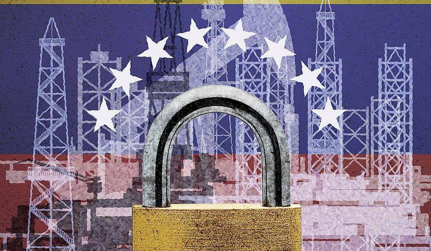 Venezuela Oil Sanctions Illustration by Greg Groesch/The Washington Times