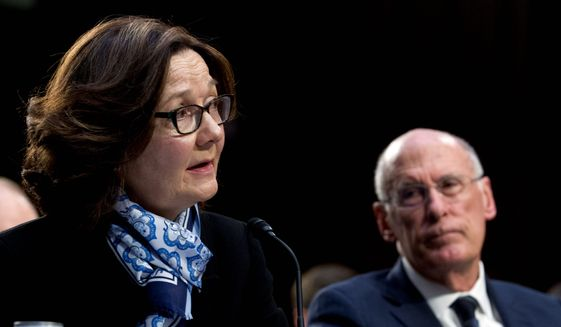 Testimony by CIA Director Gina Haspel and Director of National Intelligence Daniel Coats supports the White House on many policy issues. (Associated Press)
