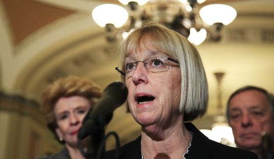 """We have laws against infanticide in this country,"" said Sen. Patty Murray, Washington Democrat. ""This is a gross misinterpretation of the actual language of the bill that is being asked to be considered and therefore I object."" (Associated Press)"