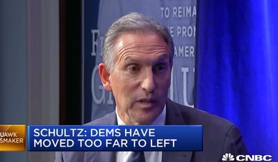 "Former Starbucks CEO Howard Schultz recently told CNBC that a better way to describe billionaires would be ""people of means."" (Image: CNBC screenshot)"
