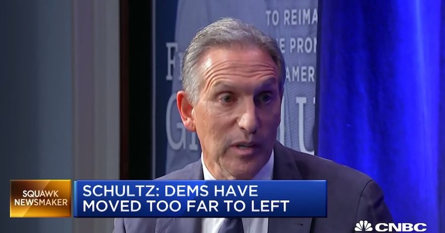"""Former Starbucks CEO Howard Schultz recently told CNBC that a better way to describe billionaires would be """"people of means."""" (Image: CNBC screenshot)"""