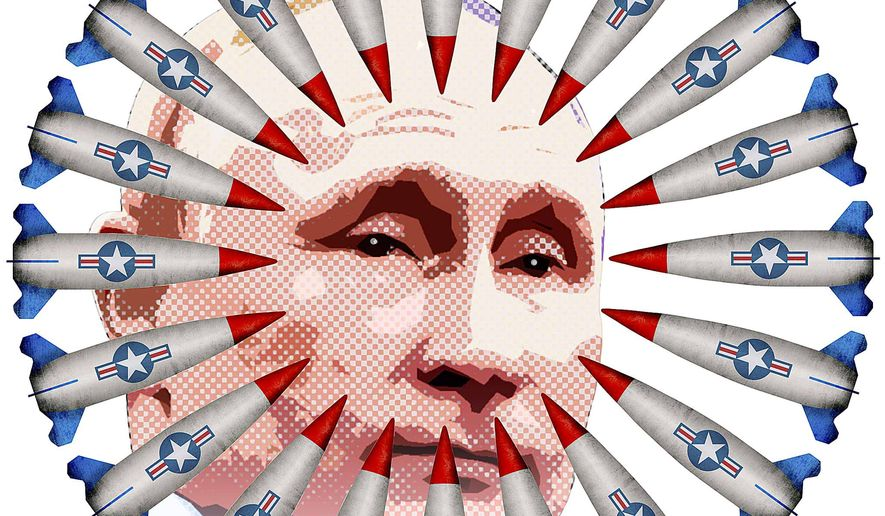 Putin Surrounded by U.S. Missiles Illustration by Greg Groesch/The Washington Times