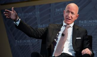 Jeff Bezos, Amazon founder and CEO, was caught in an extramarital affair with leaks of salacious text messages. His security consultant suspects the leaks were part of a conspiracy by allies of President Trump. (Associated Press/File)