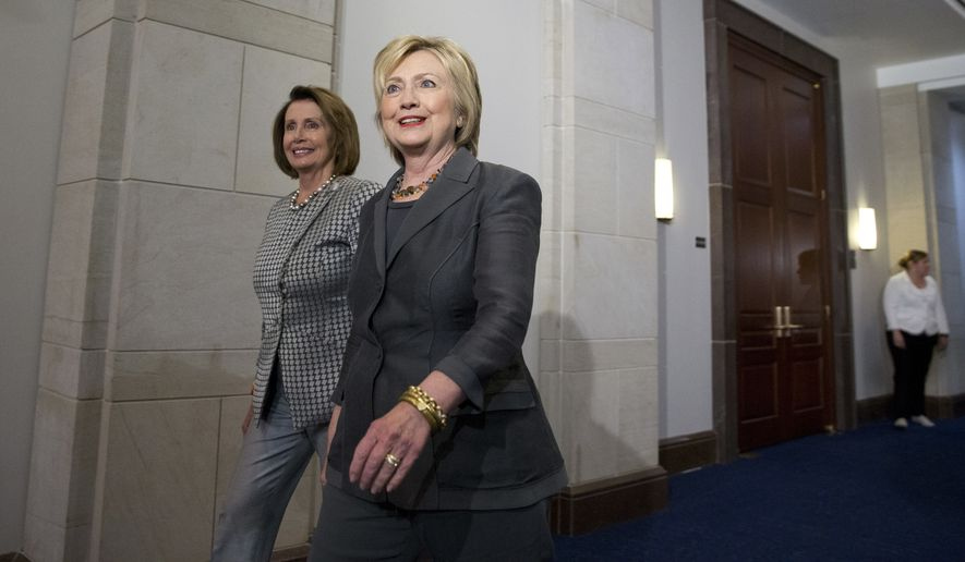 Hillary Clinton lauds Nancy Pelosi: 'It often takes a woman to get the job done'