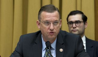 House Judiciary Committee Ranking Member Rep. Doug Collins, R-Ga., speaks during a House Judiciary Committee debate on Capitol Hill in Washington, Thursday, Feb. 7, 2019. (AP Photo/Jose Luis Magana) ** FILE **