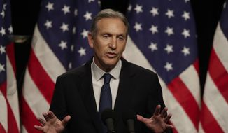 Former Starbucks CEO Howard Schultz speaks at Purdue University in West Lafayette, Ind., Thursday, Feb. 7, 2019. (AP Photo/Michael Conroy) ** FILE **