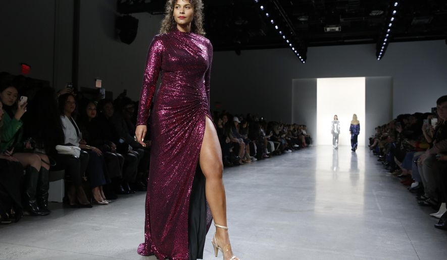 f1976613b07c Tadashi Shoji ups the glam in lace, sequin and velvet gowns ...