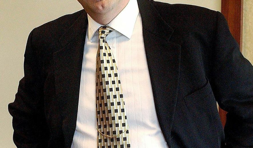 In this May 25, 2003, photo, Paul Erickson, a Vermillion native, poses for a photo. The American political operative, Erickson, linked to admitted Russian covert agent Maria Butina was accused this week of fraud. Erickson pleaded not guilty Wednesday, Feb. 6, 2019, to 11 counts of wire fraud and money laundering in business schemes that stretched from 1996 through August 2018, according to federal prosecutors in South Dakota. (Lloyd B. Cunningham/The Argus Leader via AP)