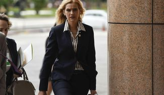 Germany's Latin America and the Caribbean Director Marian Schuegraf arrives for the inaugural meeting of the International Contact Group on Venezuela, in Montevideo, Uruguay, Thursday, Feb. 7, 2019. (AP Photo/Matilde Campodonico)