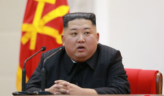 "In this Friday, Feb. 8, 2019, file photo provided by the North Korean government, North Korean leader Kim Jong-un delivers a speech at the Ministry of the People's Armed Forces to mark the 71st anniversary of the founding of the Korean People's Army, in Pyongyang, North Korea. Independent journalists were not given access to cover the event depicted in this image distributed by the North Korean government. The content of this image is as provided and cannot be independently verified. Korean language watermark on image as provided by source reads: ""KCNA"" which is the abbreviation for Korean Central News Agency. (Korean Central News Agency/Korea News Service via AP) ** FILE **"