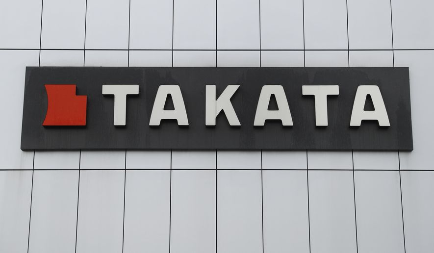 FILE - This June 25, 2017 file photo shows TK Holdings Inc. headquarters in Auburn Hills, Mich.  Subaru, Tesla, BMW, Volkswagen, Daimler Vans, Mercedes and Ferrari are recalling about 1.7 million vehicles to replace potentially deadly air bag inflators made by Takata Corp. of Japan, Friday, Feb. 8, 2019. The inflators can hurl shrapnel into drivers and passengers.  . (AP Photo/Paul Sancya)