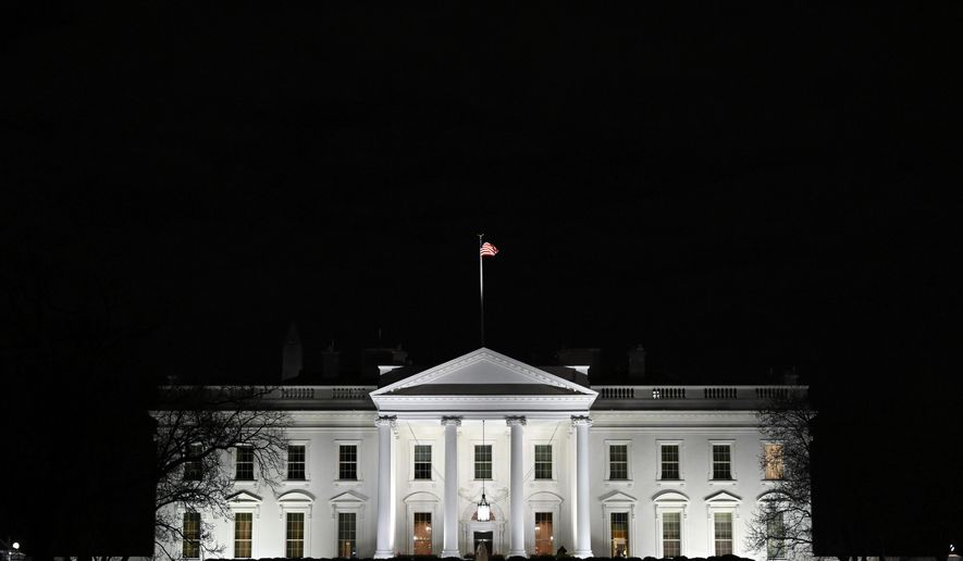 In this Jan. 23, 2019, file photo, a view of the White House in Washington, Wednesday, Jan. 23, 2019. (AP Photo/Susan Walsh, File)