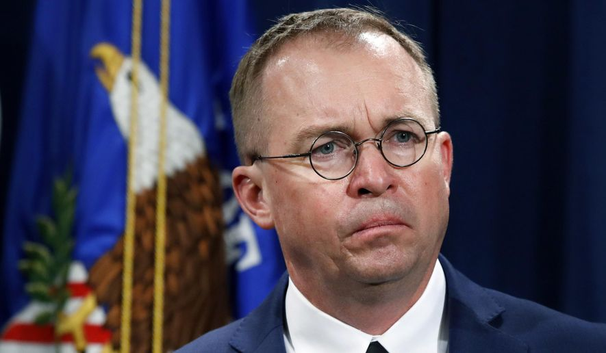 White House Chief of Staff Mick Mulvaney said proposed funding is all over the map and that Democrats' are pushing to cap the number of detainee beds for people who cross into the U.S. illegally, causing talks to stall. (Associated Press)