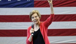 In this Jan. 12, 2019, file photo, Sen. Elizabeth Warren, D-Mass., speaks during an organizing event at Manchester Community College in Manchester, N.H. Warren is expected to formally launch her presidential bid on Saturday with a populist call to fight economic inequality. (AP Photo/Michael Dwyer, File)