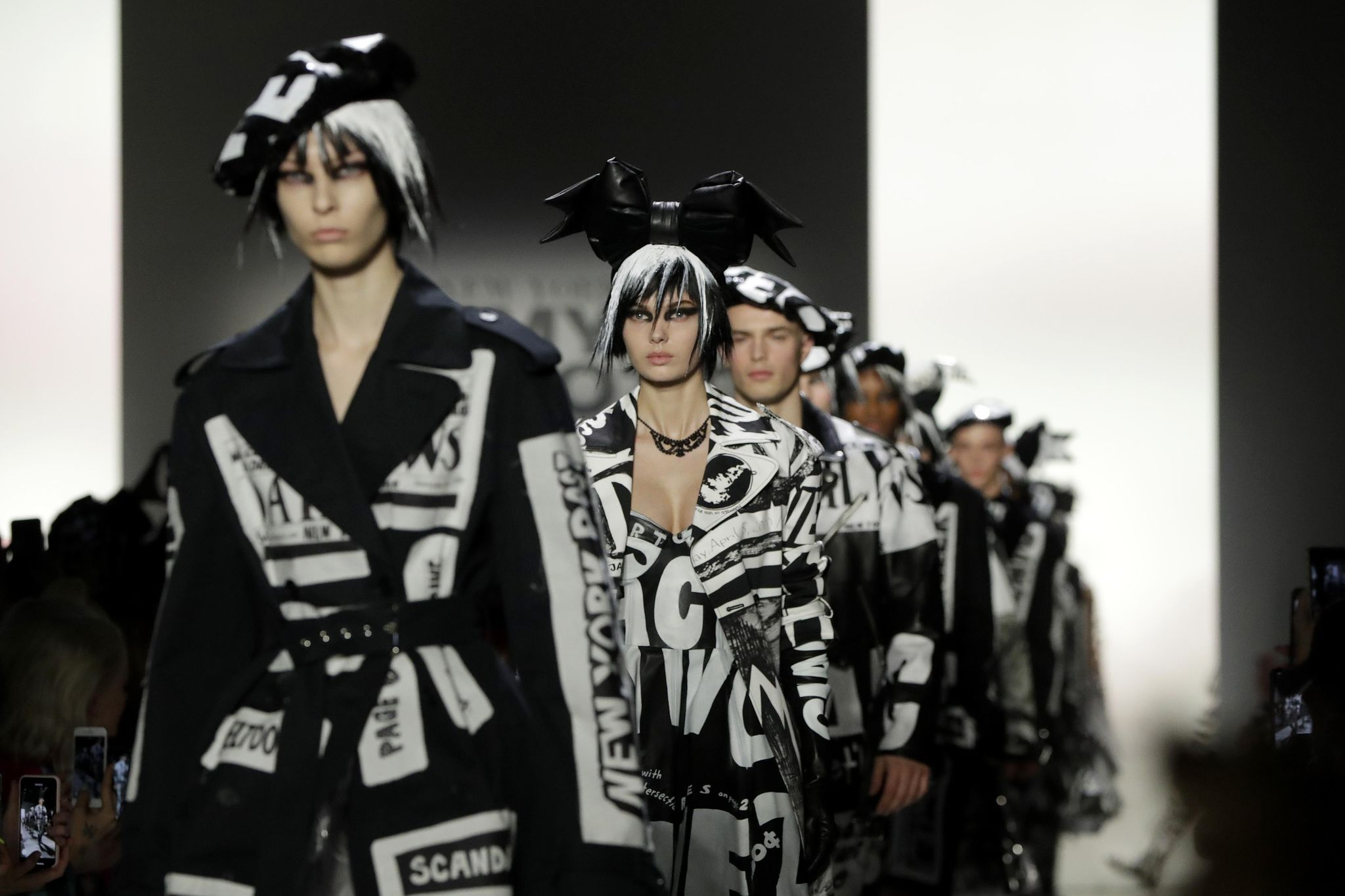Fashion designer draws inspiration from media: 'Salacious news, false assumptions, clickbait'