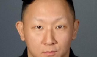 This booking photo released by Los Angeles County Sheriff Department shows Daniel Sohn, who was arrested Friday, Feb 8, 2019, by West Hollywood Sheriff's station deputies in Los Angeles. Sohn, who was recorded antagonizing demonstrators during a Black Lives Matter protest, was arrested on suspicion of impersonating a police officer. (Los Angeles County Sheriff's Department via AP)