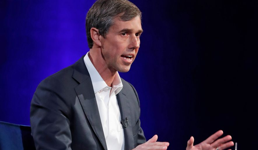 Former Rep. Beto O'Rourke organized a March for Truth to counter President Trump's MAGA rally in El Paso, Texas on Monday. (Associated Press)