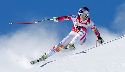 Lindsey Vonn will retire as the first female skiier to win medals at six different world championships. At 34, she's also the oldest woman to win a medal at worlds. (Associated Press)
