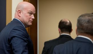 """We have followed the special counsel's regulations to a T,"" said acting Attorney General G. Matthew Whitaker to the House Judiciary Committee. (Associated Press)"