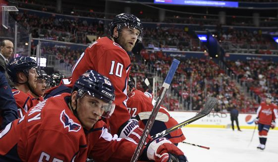 0cf03494fe0 Capitals begin long road trip looking like last year s Stanley Cup team -  Washington Times