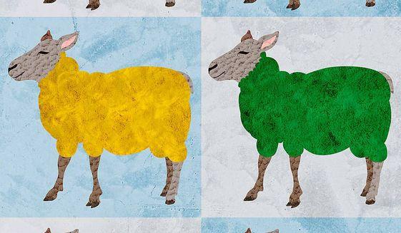Diversity Sheep Illustration by Greg Groesch/The Washington Times