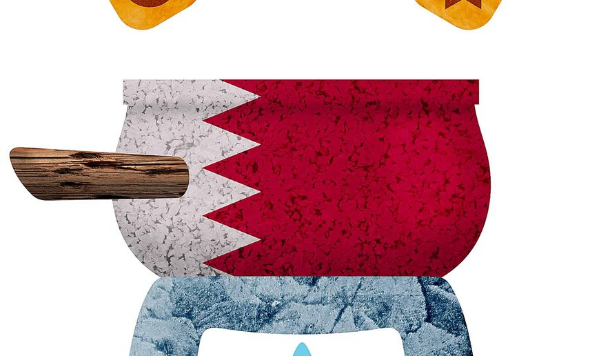 Bahrain Religious Melting Pot Illustration by Greg Groesch/The Washington Times