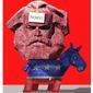 Illustration on the problematic promises of Democrat candidates by Alexander Hunter/The Washington Times