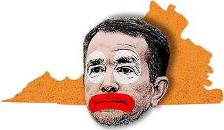 The Clown from Virginia Illustration by Greg Groesch/The Washington Times