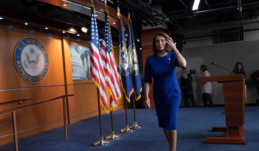 """House Speaker Nancy Pelosi """"is the leader of the party,"""" Sen. Sherrod Brown, Ohio Democrat, said. Mr. Brown doesn't think the party has shifted to the left. (Associated Press)"""