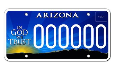 "Arizona license plates, similar to the image shown here, are under attack by the state's Democrats because a portion of the proceeds go to the nonprofit group Alliance Defending Freedom group. The Southern Poverty Law Center, a left-wing organization, has designated ADF a ""hate group"" for its opposition to same-sex marriage. (Image: ADF screenshot)"