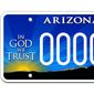 """Arizona license plates, similar to the image shown here, are under attack by the state's Democrats because a portion of the proceeds go to the nonprofit group Alliance Defending Freedom group. The Southern Poverty Law Center, a left-wing organization, has designated ADF a """"hate group"""" for its opposition to same-sex marriage. (Image: ADF screenshot)"""