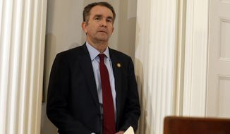 Virginia Gov. Ralph Northam, a pediatric neurologist, stunned onlookers when he appeared to endorse in a Jan. 30 interview the withholding of medical care for an infant born alive after an attempted abortion. (Associated Press)
