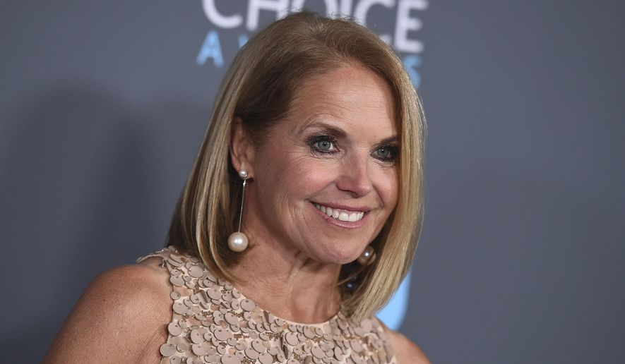 In this Jan. 11, 2018, file photo, Katie Couric poses in the press room at the 23rd annual Critics' Choice Awards in Santa Monica, Calif. (Photo by Jordan Strauss/Invision/AP, File)
