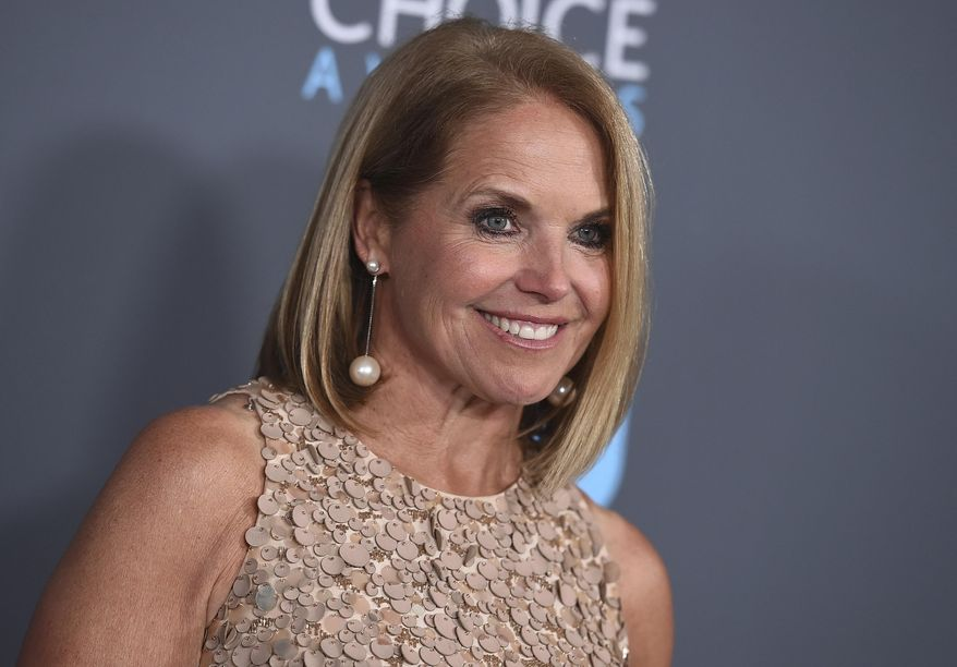 In this Jan. 11, 2018 file photo, Katie Couric poses in the press room at the 23rd annual Critics' Choice Awards in Santa Monica, Calif. (Photo by Jordan Strauss/Invision/AP, File)