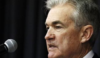 Federal Reserve Chairman Jerome Powell addresses a rural policy forum at historically black Mississippi Valley State University in Itta Bena, Miss., Tuesday, Feb. 12, 2019. Powell says that many rural areas have not benefited from the national prosperity and those areas need special support. (AP Photo/Rogelio V. Solis)