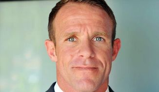 This 2018 file photo provided by Andrea Gallagher shows her husband, Navy SEAL Edward Gallagher. (Andrea Gallagher via AP, File)