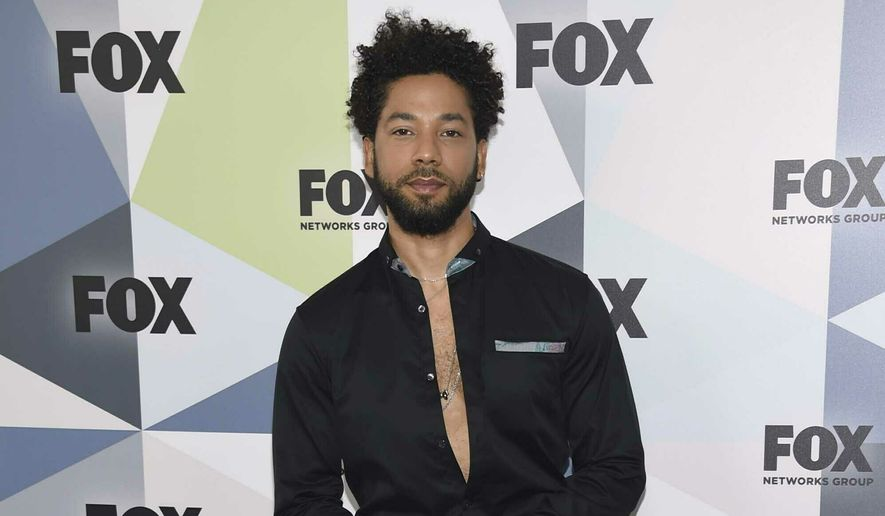 """In this May 14, 2018, file photo, Jussie Smollett, a cast member in the TV series """"Empire,"""" attends the Fox Networks Group 2018 programming presentation afterparty in New York. (Photo by Evan Agostini/Invision/AP, File)"""