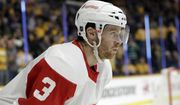 Detroit Red Wings defenseman Nick Jensen plays against the Nashville Predators in the second period of an NHL hockey game Tuesday, Feb. 12, 2019, in Nashville, Tenn. (AP Photo/Mark Humphrey) ** FILE **