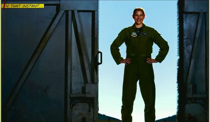 "Air Force Capt. Zoe Kotnik was relieved after two weeks of her command of an Air Combat Command F-16 Viper demonstration team. Col. Allen Herritage, director of public affairs at ACC, released a Feb. 12, 2019, statement saying the decision was made due to a ""loss of confidence in her ability to lead."" (Image: Twitter, Air Force video screenshot)"