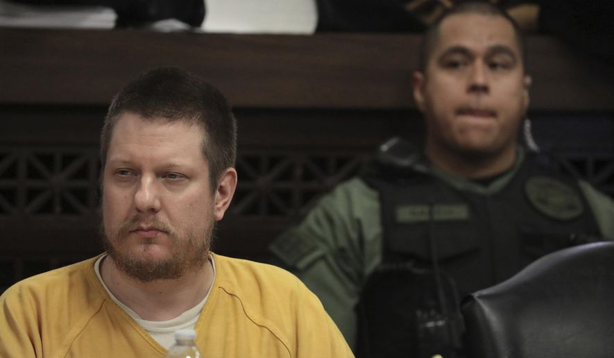 FILE - In this Jan. 18, 2019 file photo, former Chicago police Officer Jason Van Dyke attends his sentencing hearing at the Leighton Criminal Court Building in Chicago, for the 2014 shooting of Laquan McDonald. The wife of the white Chicago police officer who fatally shot the black teenager McDonald said on Wednesday, Feb. 13, 2019, that her husband has been assaulted by inmates in his cell at a Connecticut prison. The Chicago Sun-Times reports that Tiffany Van Dyke says Jason Van Dyke had been placed in the prison's general population before being assaulting. (Antonio Perez/Chicago Tribune via AP, Pool, File)
