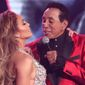 Jennifer Lopez, left, and Smokey Robinson perform a medley during a tribute to Motown's 60th anniversary at the 61st annual Grammy Awards on Sunday, Feb. 10, 2019, in Los Angeles. (Photo by Matt Sayles/Invision/AP)