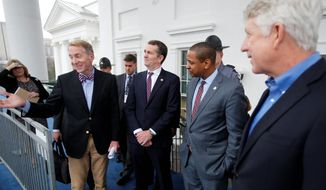 With Virginia Gov. Ralph Northam (left), Lt. Gov. Justin Fairfax (center) and Attorney General Mark Herring all entangled in a bizarre web of controversies, Republicans believe they have a shot in Tuesday's special election. (ASSOCIATED PRESS)