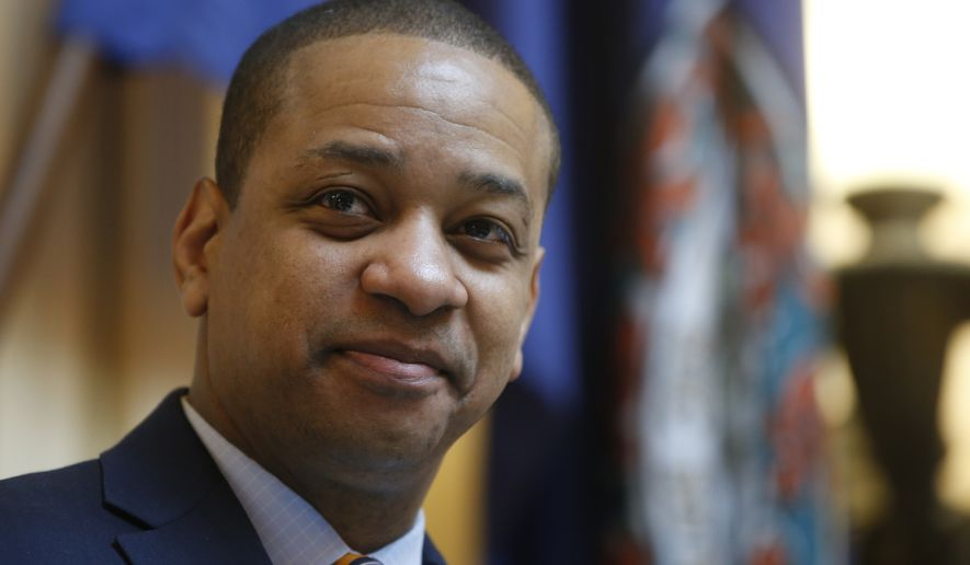Virginia Lt. Gov. Justin Fairfax presides over the Senate during the session at the Capitol in Richmond, Va., Thursday, Feb. 14, 2019. (AP Photo/Steve Helber) ** FILE **