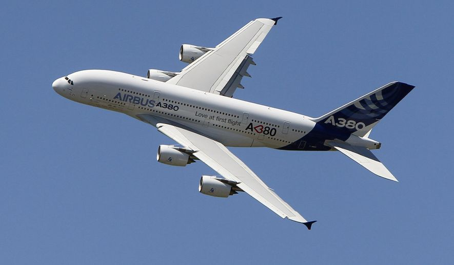 In this June 26, 2011, file photo, an Airbus A380 performs during a demonstration flight at the 49th Paris Air Show at Le Bourget airport, east of Paris. Airbus said Thursday, Feb. 14, 2019, it will stop making A380 superjumbo jets in 2021 after struggling to win clients. (AP Photo/Francois Mori, File)