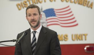 Adam Boehler, director, CMS Innovation Center, speaks during a news conference on Thursday, Feb. 14, 2019 in Washington. (AP Photo/Kevin Wolf)