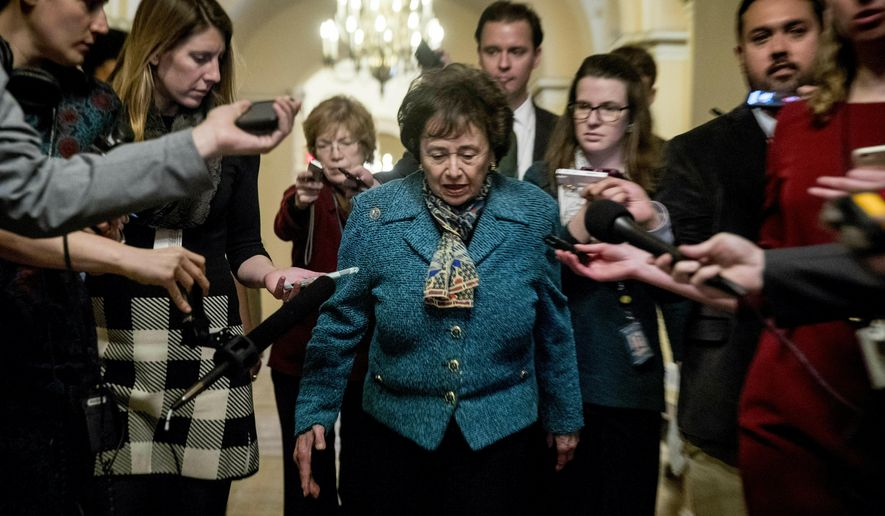 In this Feb. 11, 2019, photo, House Appropriations Committee Chair Nita Lowey, D-N.Y., speaks to reporters as she arrives for a closed-door meeting at the Capitol as bipartisan House and Senate bargainers trying to negotiate a border security compromise in hope of avoiding another government shutdown on Capitol Hill in Washington. When you want results in a polarized Washington, sometimes it pays to simply leave the professionals alone to do their jobs. (AP Photo/Andrew Harnik)