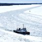 Under the spending bill, the U.S. Coast Guard will receive money for a heavy icebreaker, the first new one in nearly 40 years. Both parties were happy with the decision. (Associated Press)