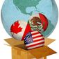 NAFTA Trade Agreement Illustration by Greg Groesch/The Washington Times