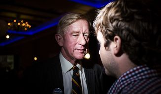 Libertarian presidential candidate Gary Johnson speaks to supporters at his election night party Tuesday, Nov. 8, 2016 in Albuquerque, N.M. (AP Photo/Juan Labreche)
