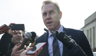 """""""I think I have a lot of discretion,"""" said acting Defense Secretary Patrick M. Shanahan. """"I'm not required to do anything."""" (Associated Press/File)"""